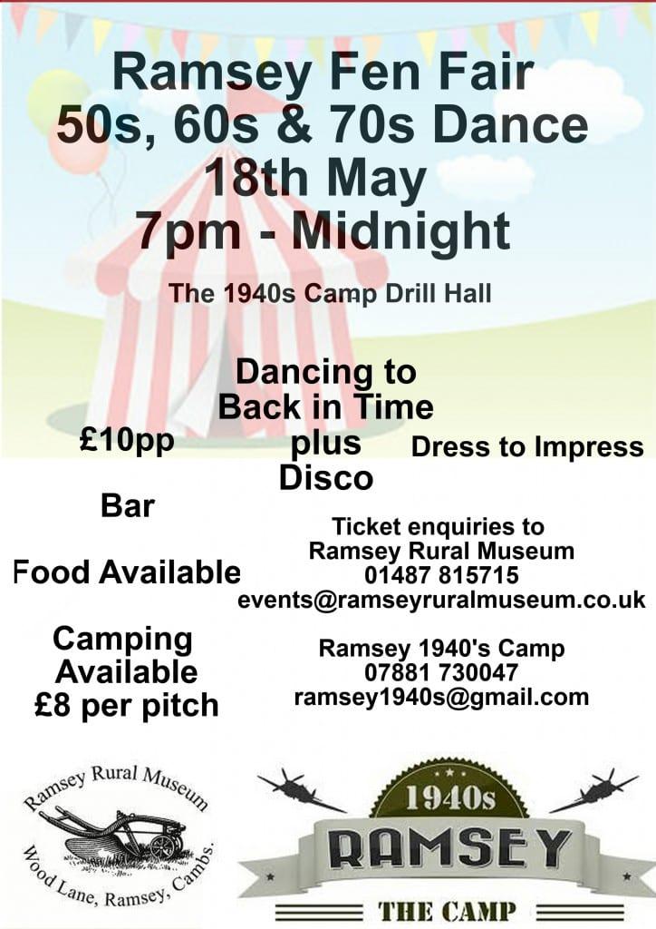 Ramsey Fen Fair - 50's, 60's, 70's Dance