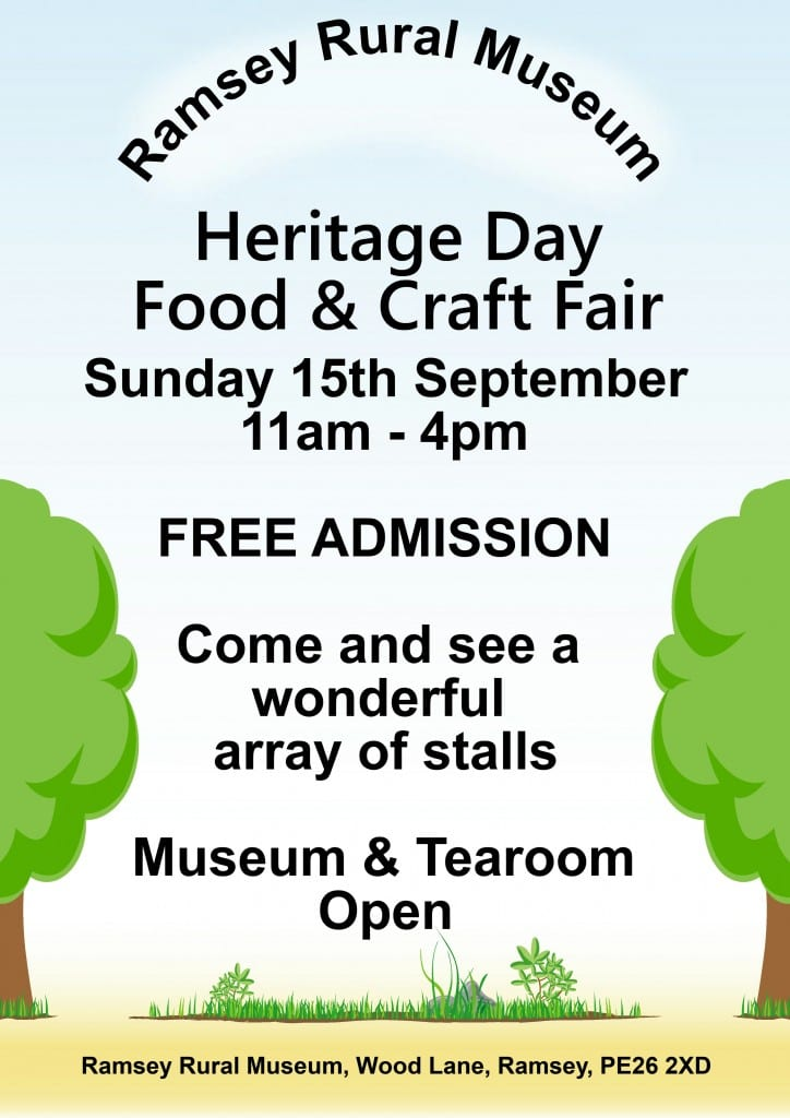 Ramsey Rural Museum - Heritage Day -Autumn Food and Craft Fair
