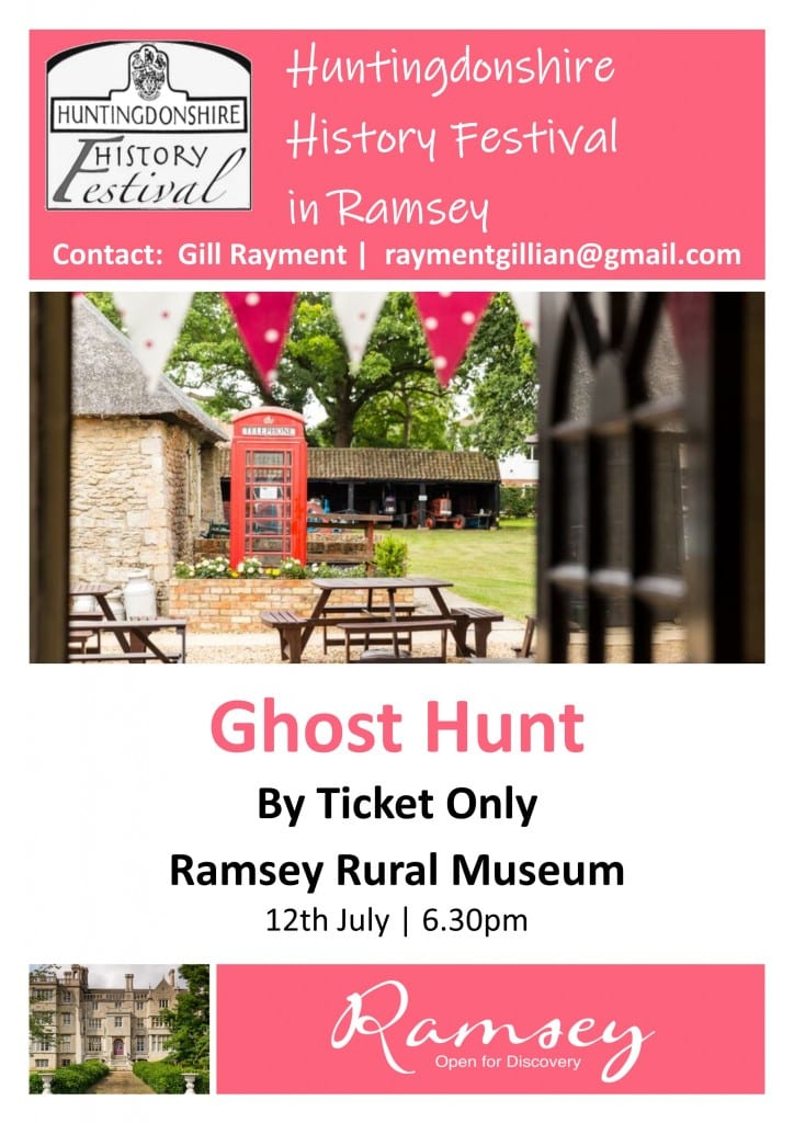 Huntingdonshire History Festival in Ramsey - Ghost Hunt