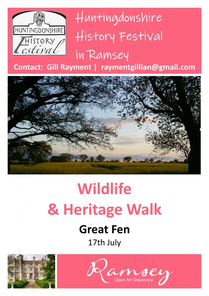 Huntingdonshire History Festival in Ramsey - Wildlife & Heritage Walk