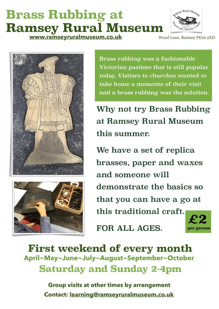 Brass Rubbing at Ramsey Rural Museum