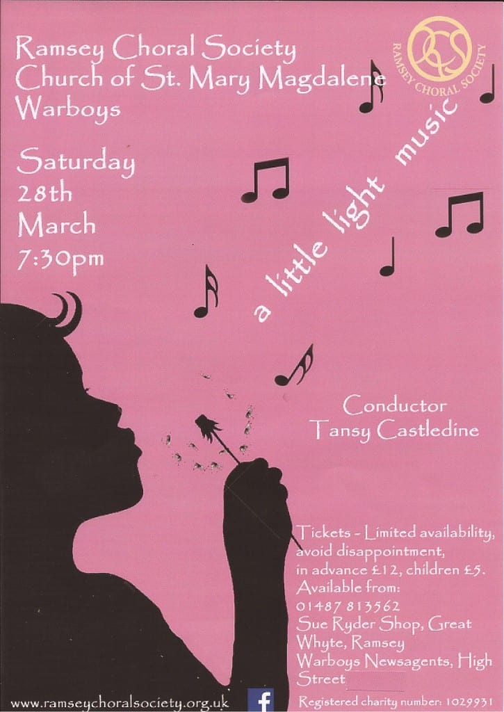 Ramsey Choral Society - a little light music!